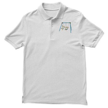 Eggs On Swing Men's Polo Shirt Designed By Dirjaart