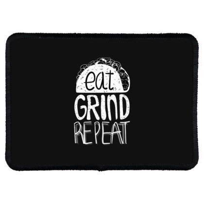 Eat Grind Repeat Rectangle Patch Designed By Dirjaart