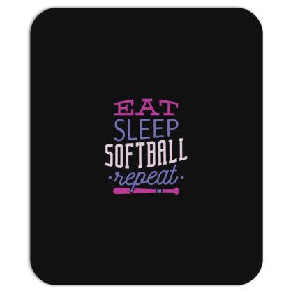 Eat Sleep Softball Repeat Mousepad Designed By Dirjaart