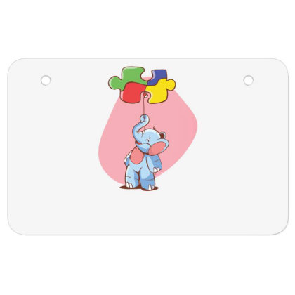 Elephant Balloon Puzzle Atv License Plate Designed By Dirjaart