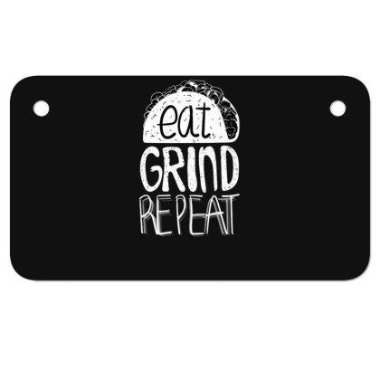 Eat Grind Repeat Motorcycle License Plate Designed By Dirjaart
