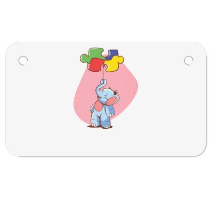 Elephant Balloon Puzzle Motorcycle License Plate Designed By Dirjaart