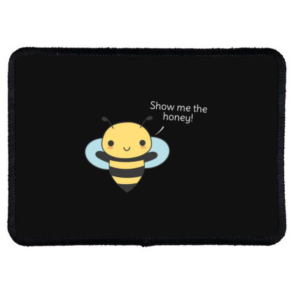 Bee Pun Is Funny Rectangle Patch Designed By H3lm1