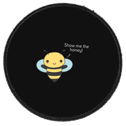 Bee Pun Is Funny Round Patch Designed By H3lm1