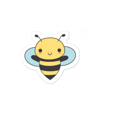 Bee Pun Is Funny Sticker Designed By H3lm1