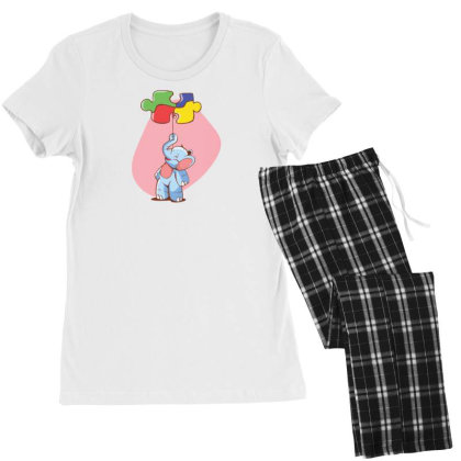 Elephant Balloon Puzzle Women's Pajamas Set Designed By Dirjaart