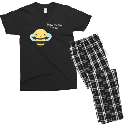 Bee Pun Is Funny Men's T-shirt Pajama Set Designed By H3lm1