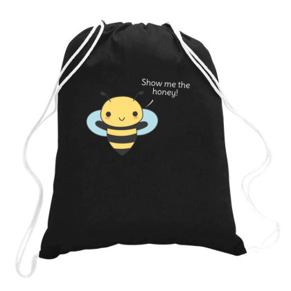 Bee Pun Is Funny Drawstring Bags Designed By H3lm1