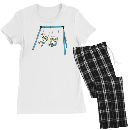 Eggs On Swing Women's Pajamas Set Designed By Dirjaart