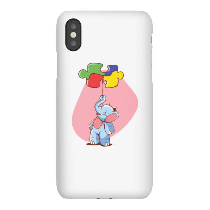 Elephant Balloon Puzzle Iphonex Case Designed By Dirjaart