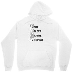 eat sleep anime repeat Unisex Hoodie | Artistshot