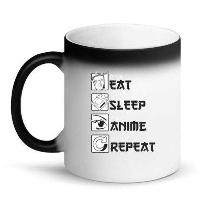 Eat Sleep Anime Repeat Magic Mug Designed By Dirjaart