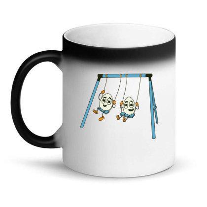 Eggs On Swing Magic Mug Designed By Dirjaart