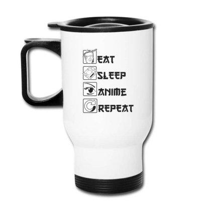 Eat Sleep Anime Repeat Travel Mug Designed By Dirjaart