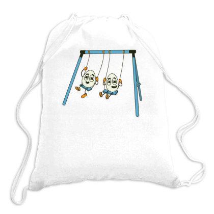 Eggs On Swing Drawstring Bags Designed By Dirjaart