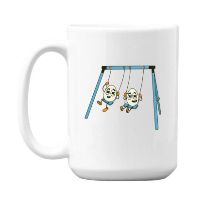 Eggs On Swing 15 Oz Coffe Mug Designed By Dirjaart