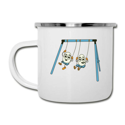 Eggs On Swing Camper Cup Designed By Dirjaart