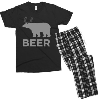 Beer  Animal Men's T-shirt Pajama Set Designed By H3lm1
