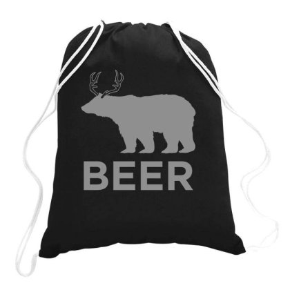 Beer  Animal Drawstring Bags Designed By H3lm1