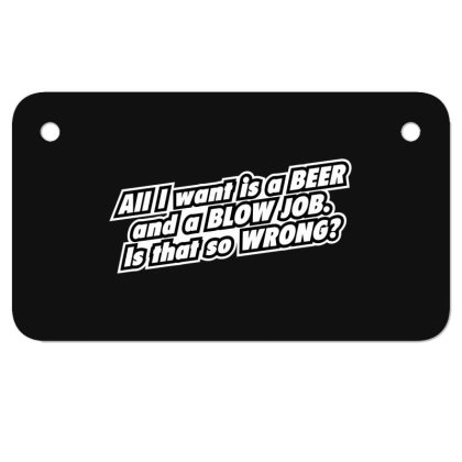 Beer  Bj Motorcycle License Plate Designed By H3lm1