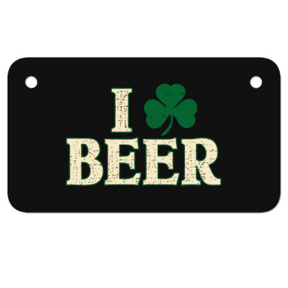 Beer  Clover Motorcycle License Plate Designed By H3lm1