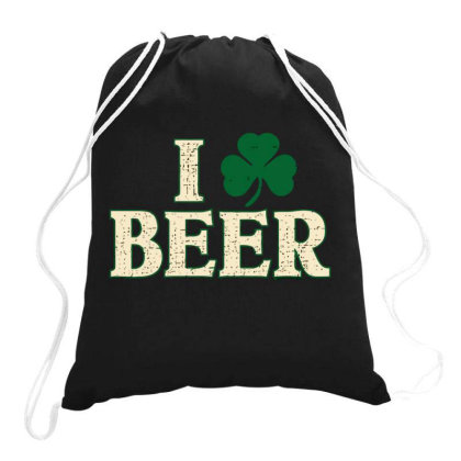 Beer  Clover Drawstring Bags Designed By H3lm1