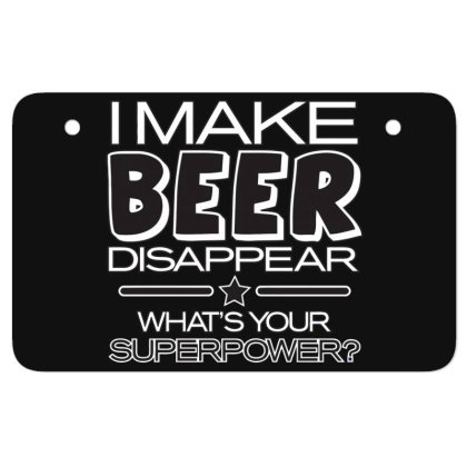 Beer  Disappear Atv License Plate Designed By H3lm1