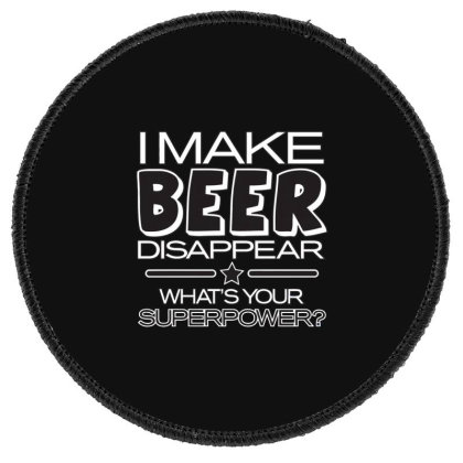 Beer  Disappear Round Patch Designed By H3lm1