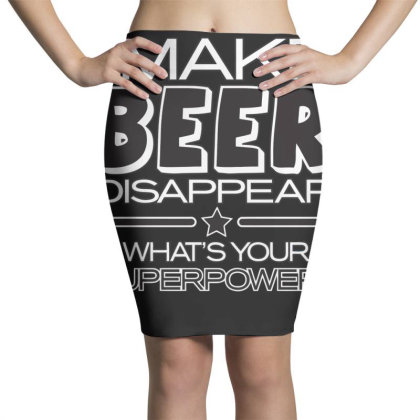 Beer  Disappear Pencil Skirts Designed By H3lm1