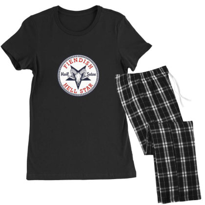 Hail Satan Women's Pajamas Set Designed By Asatya