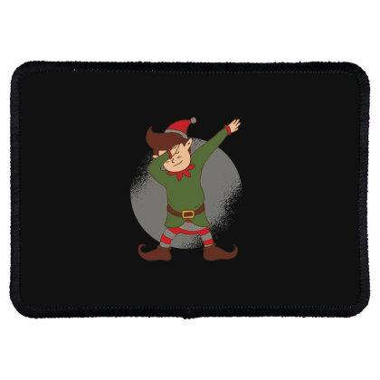 Elf Dabbing Christmas Rectangle Patch Designed By Dirjaart