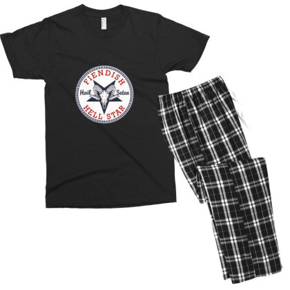 Hail Satan Men's T-shirt Pajama Set Designed By Asatya