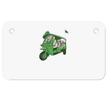 Elephant Taxi Motorcycle License Plate Designed By Dirjaart