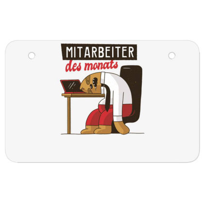 Employee Of The Month Atv License Plate Designed By Dirjaart