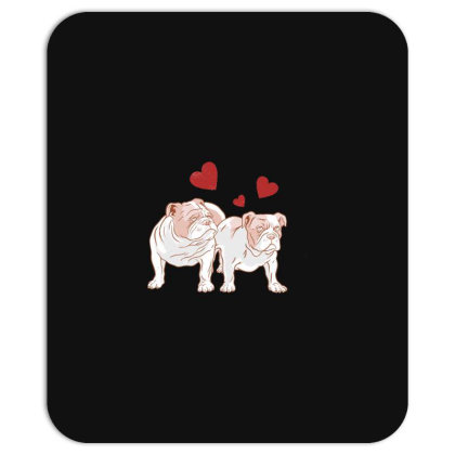 English Bulldog Couple Love Mousepad Designed By Dirjaart