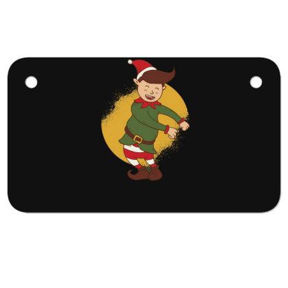 Elf Floss Dance Christmas Motorcycle License Plate Designed By Dirjaart