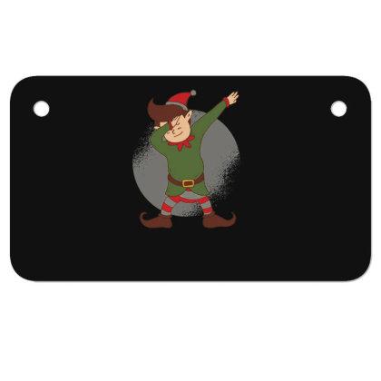 Elf Dabbing Christmas Motorcycle License Plate Designed By Dirjaart