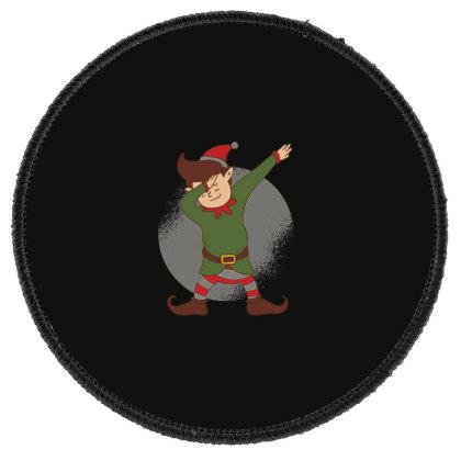 Elf Dabbing Christmas Round Patch Designed By Dirjaart