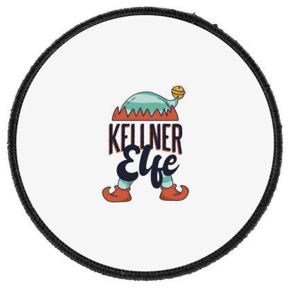 Elf Waiter Round Patch Designed By Dirjaart