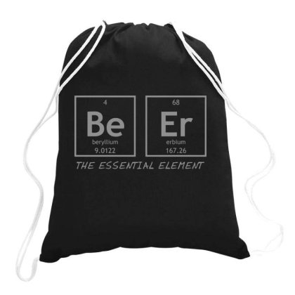 Beer  Element Drawstring Bags Designed By H3lm1