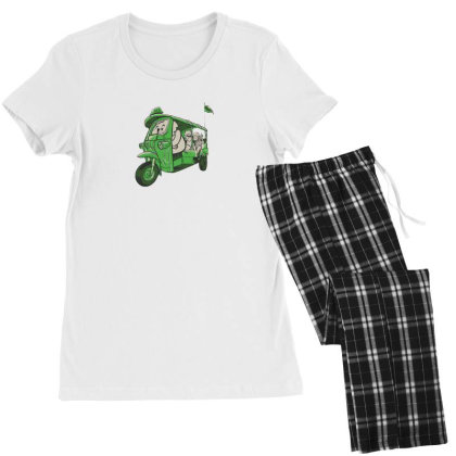 Elephant Taxi Women's Pajamas Set Designed By Dirjaart