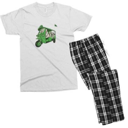Elephant Taxi Men's T-shirt Pajama Set Designed By Dirjaart