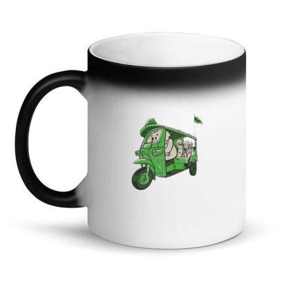 Elephant Taxi Magic Mug Designed By Dirjaart