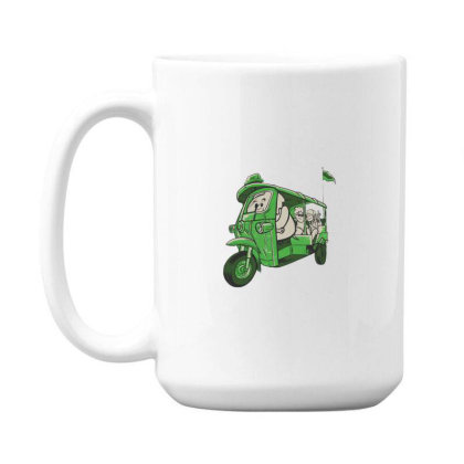 Elephant Taxi 15 Oz Coffe Mug Designed By Dirjaart
