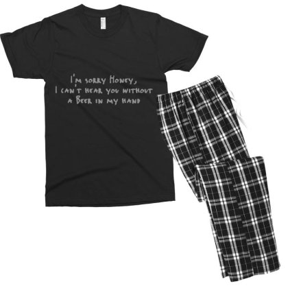 Beer  Hand Men's T-shirt Pajama Set Designed By H3lm1