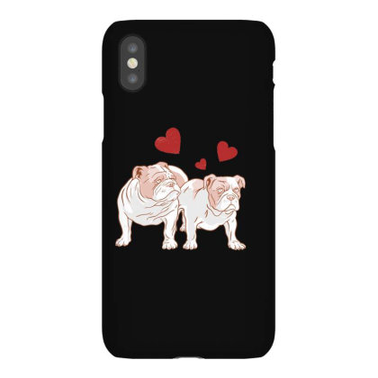 English Bulldog Couple Love Iphonex Case Designed By Dirjaart
