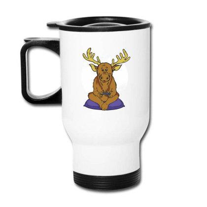 Elk Video Games Travel Mug Designed By Dirjaart