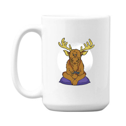 Elk Video Games 15 Oz Coffe Mug Designed By Dirjaart