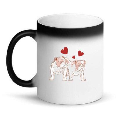 English Bulldog Couple Love Magic Mug Designed By Dirjaart