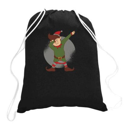 Elf Dabbing Christmas Drawstring Bags Designed By Dirjaart